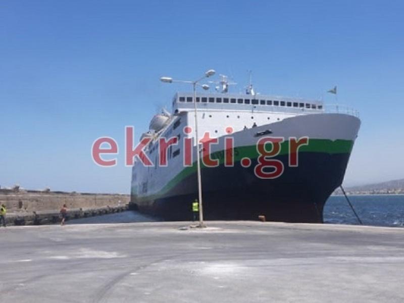 Το πλοίο στο λιμάνι του Ρεθύμνου