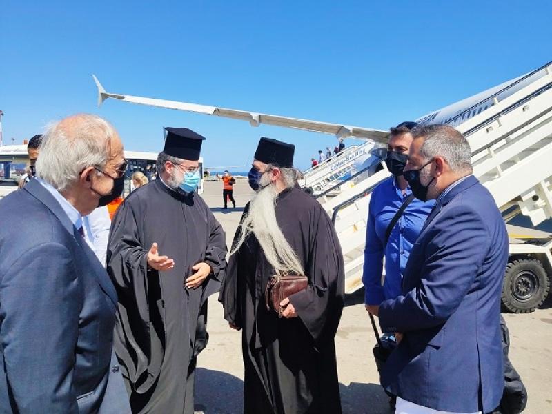 Υποδοχή στο αεροδρόμιο Ηρακλείου