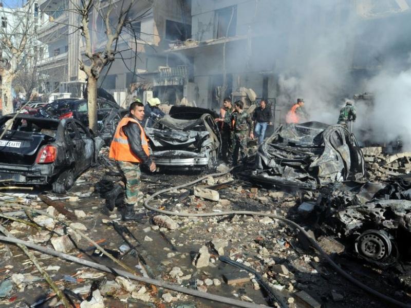 βομβαρδισμος,Συρια,Δαμασκός