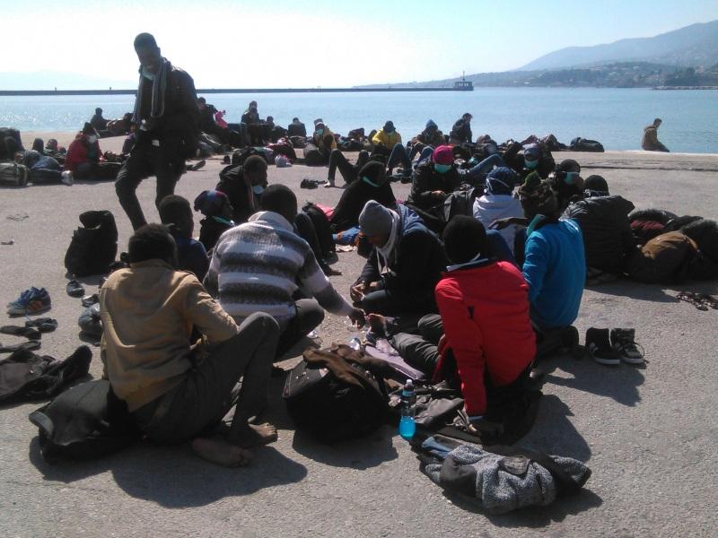 μετανάστες - Μυτιλήνη