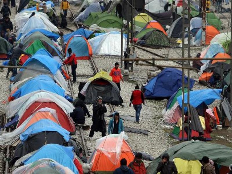 ειδομενη,προσφυγες,σκηνες