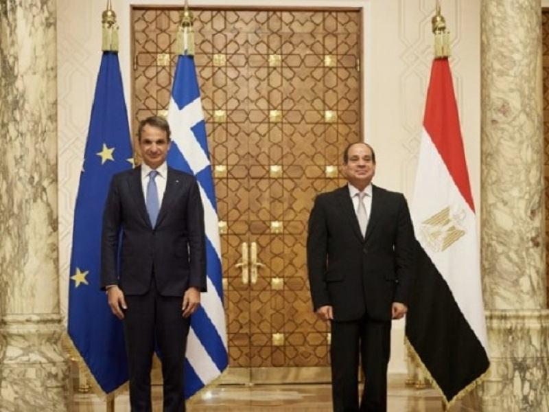 Ο Κυριάκος Μητσοτάκς με τον Πρόεδρο Αμπντέλ Φατάχ Αλ Σίσι
