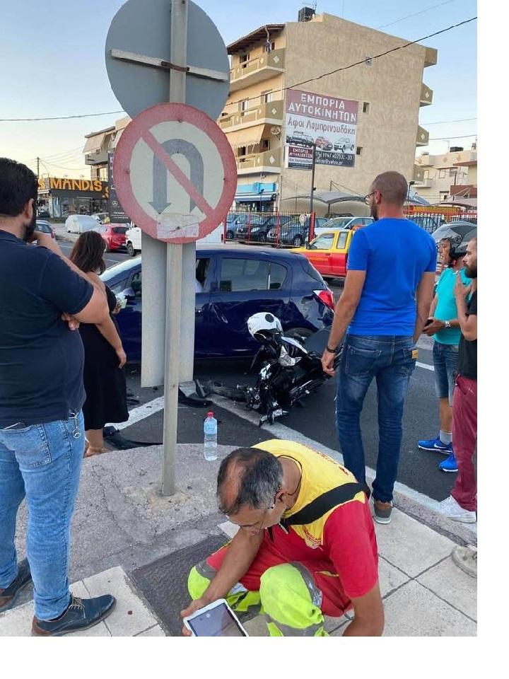 Το σημείο του τροχαίου ατυχήματος στο Γιόφυρο