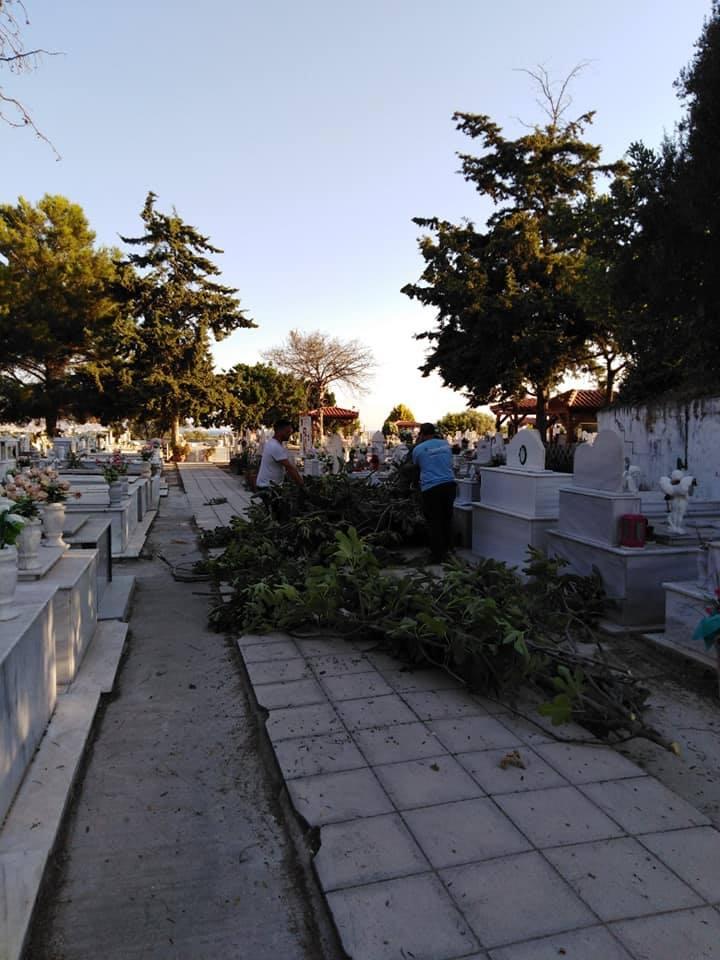 εργασίες στο Κοιμητήριο Γαζίου