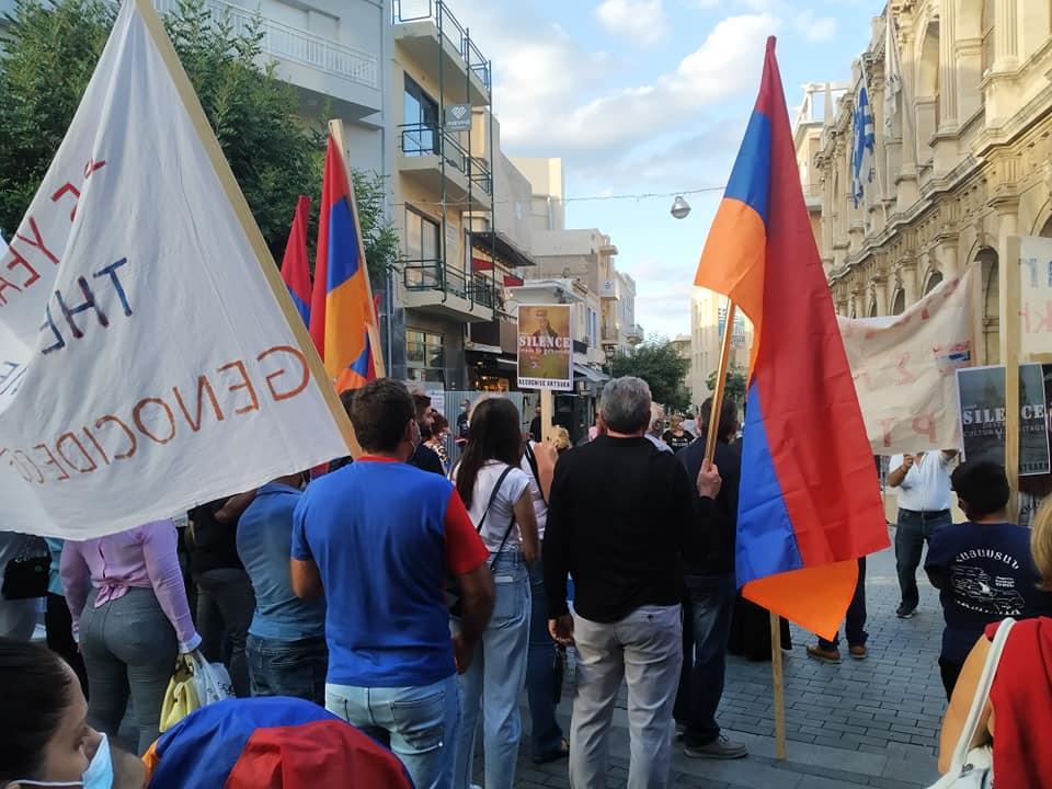 Συγκέντρωση συμπαράστασης στον δοκιμαζόμενο αρμενικό λαό του Αρτσάχ και της Αρμενίας.