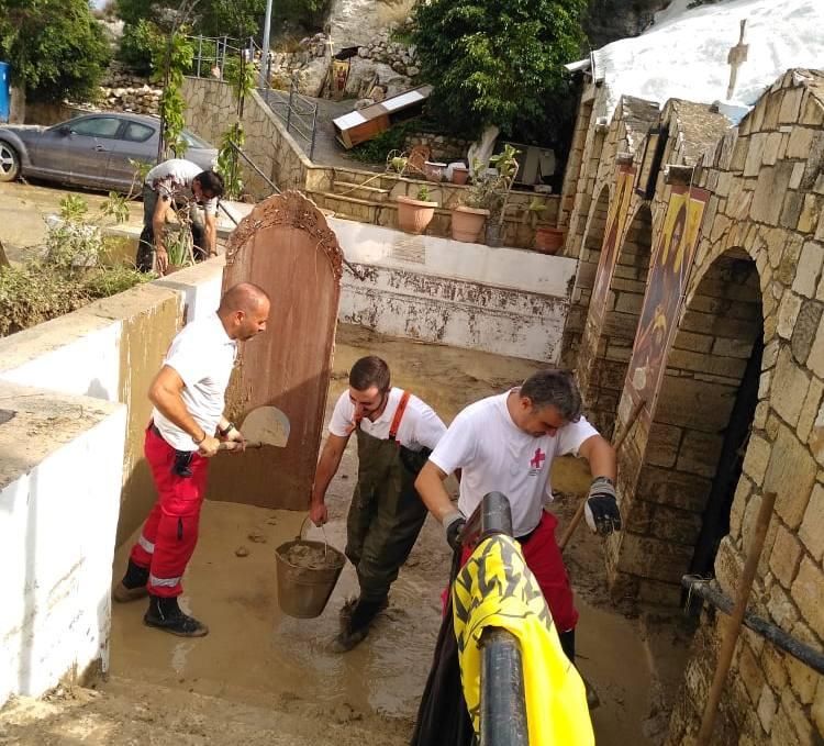 Το έργο των εθελοντών ήταν ιδιαίτερα δύσκολο.