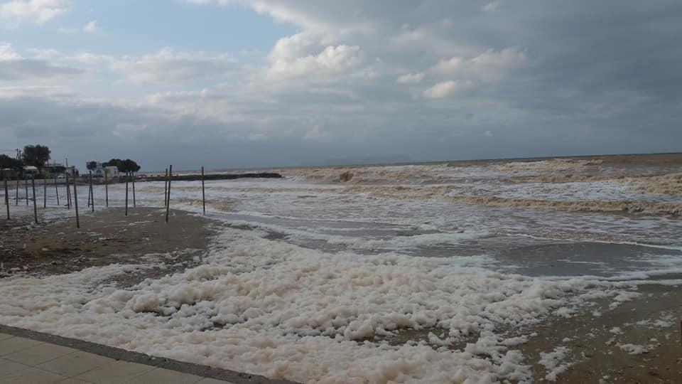 Η παραλία της Αναλήψεως, όπως αποτυπώθηκε σήμερα.