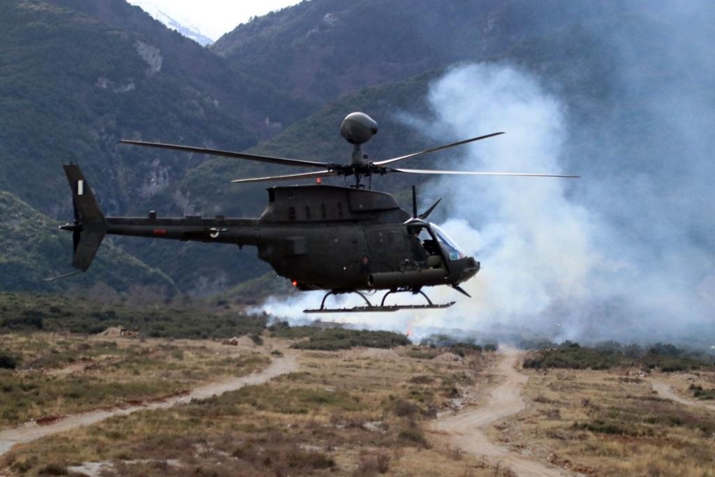 Τα ελικόπτερα εκτέλεσαν τις πρώτες επιχειρησιακές τους βολές.