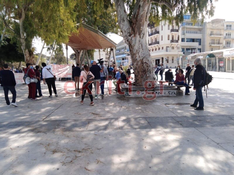 Η προσυγκέντρωση στην πλατεία Ελευθερίας