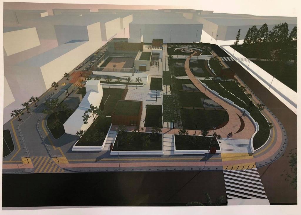 Ο σχεδιασμός για τα έργα ανάπλασης στην πλατεία 4 Μαρτύρων.