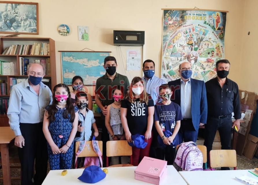 Στο σχολείο του Κρότου στο δήμο Γόρτυνας