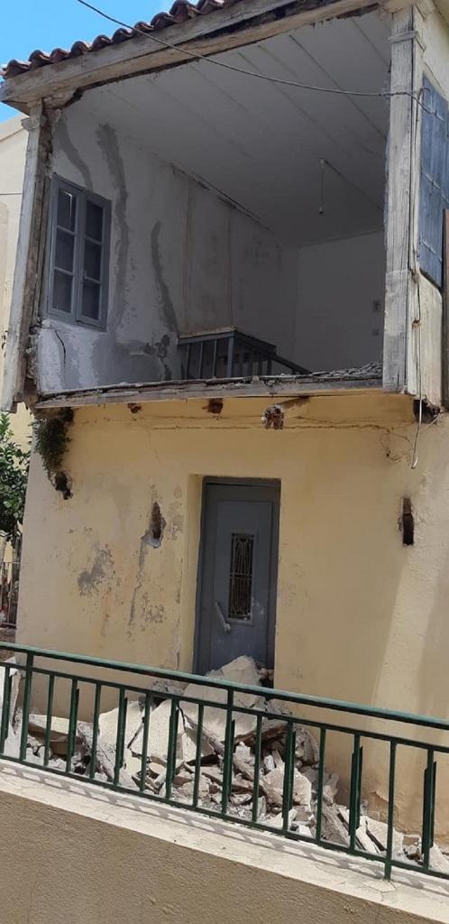 Το τμήμα του κτιρίου που κατέρρευσε