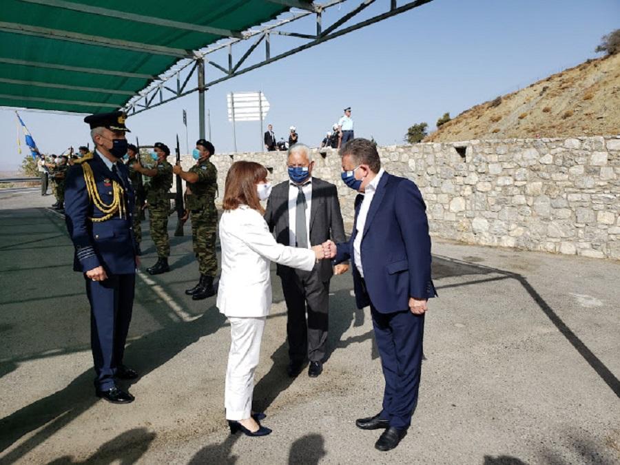 Η κ. Σακελλαροπούλου με τον Περιφερειάρχη Κρήτης