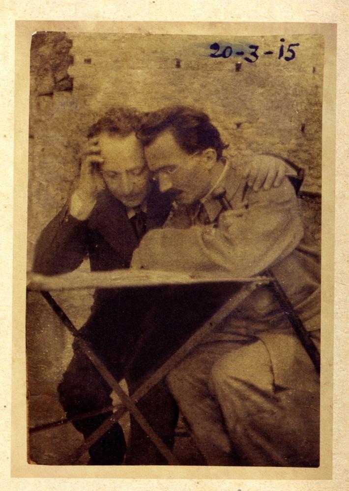 Ο Νίκος Καζαντζάκης με τον Άγγελο Σικελιανό την άνοιξη του 1915