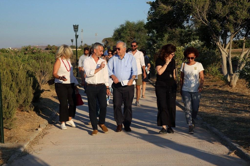 Ο Δήμαρχος Ηρακλείου Βασίλης Λαμπρινός είχε την ευκαιρία να περπατήσει την διαδρομή από την Πύλη Βηθλεέμ έως τον Άγιο Ανδρέα