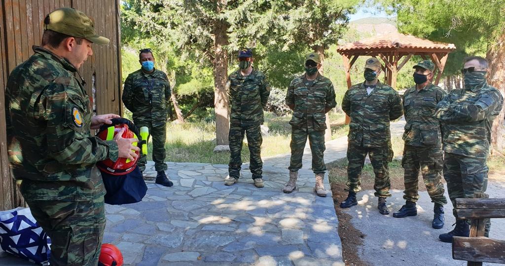 Κατά την διάρκεια της παρουσίας τους στην περιοχή, πραγματοποιήθηκε εκπαίδευση στα Ατομικά Μέσα Προστασίας.