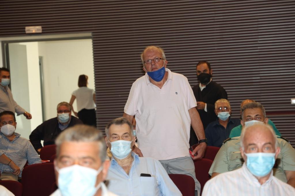 Ο Διευθυντής του Γεωδυναμικού Ινστιτούτου Αθηνών Άκης Τσελέντης στη σύσκεψη για τους σεισμούς στο Αρκαλοχώρι
