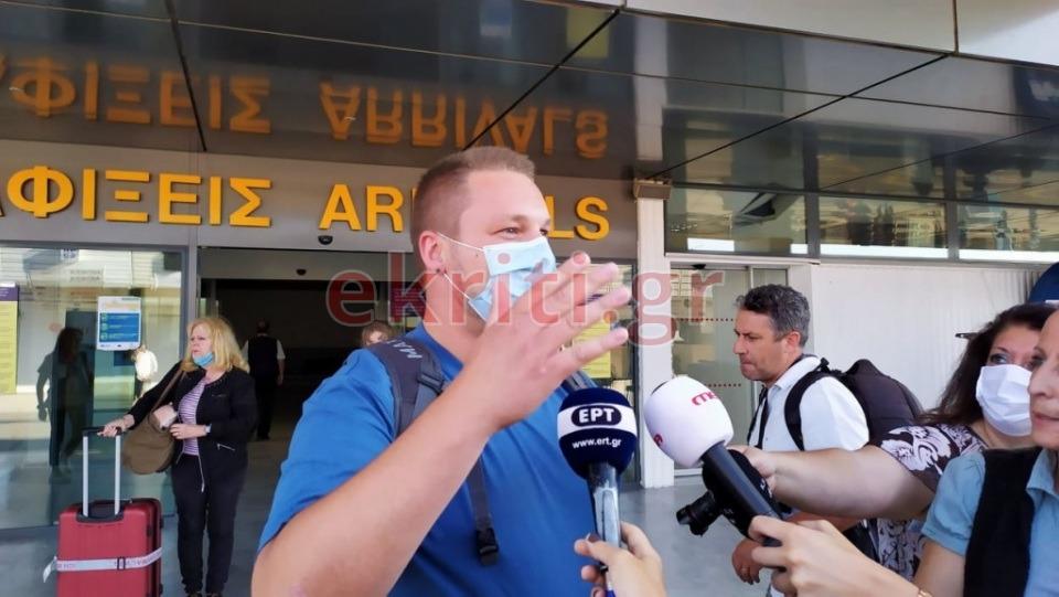 Ενθουσιασμένοι με το ταξίδι τους στην Κρήτη δήλωσαν οι τουρίστες