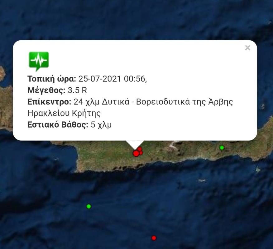 Τα στοιχεία του σεισμού.