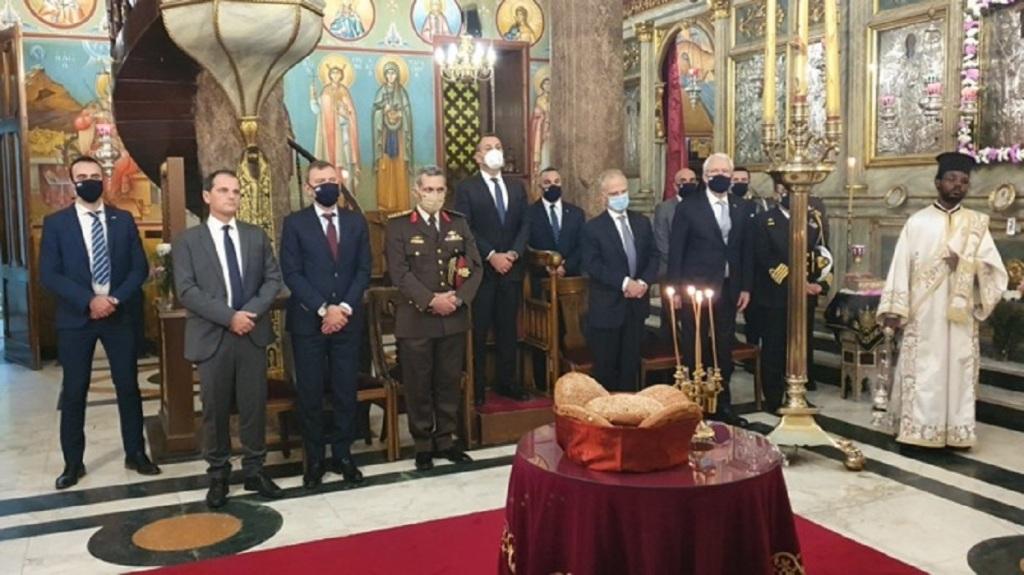 Ο εορτασμός έγινε παρουσία του Έλληνα υπουργού Εθνικής Άμυνας και Αξιωματούχων.