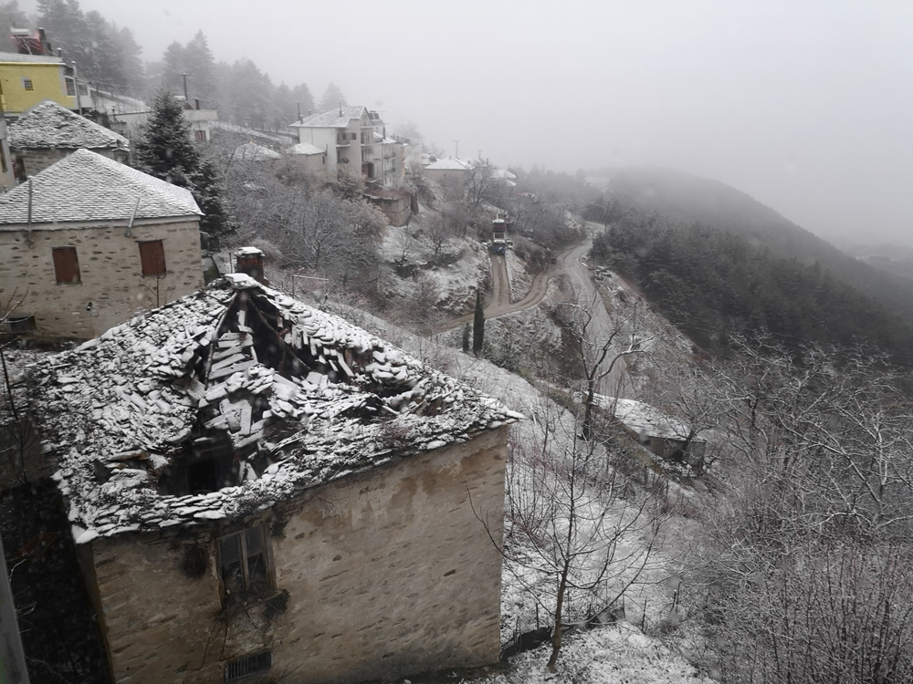 χιόνια σε Καστοριά και Κοζάνη