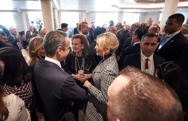 Ο Κυριάκος Μητσοτάκης με την Ιβάνκα Τραμπ