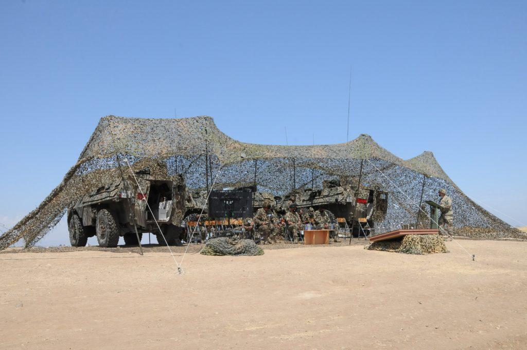 Το Τακτικό Στρατηγείο της 1ης Μ/Κ ΤΑΞ ΠΖ σε ύψωμα στην περιοχή Καλού Χωρίου. (Πέτρος Σαββίδης @ 2021)