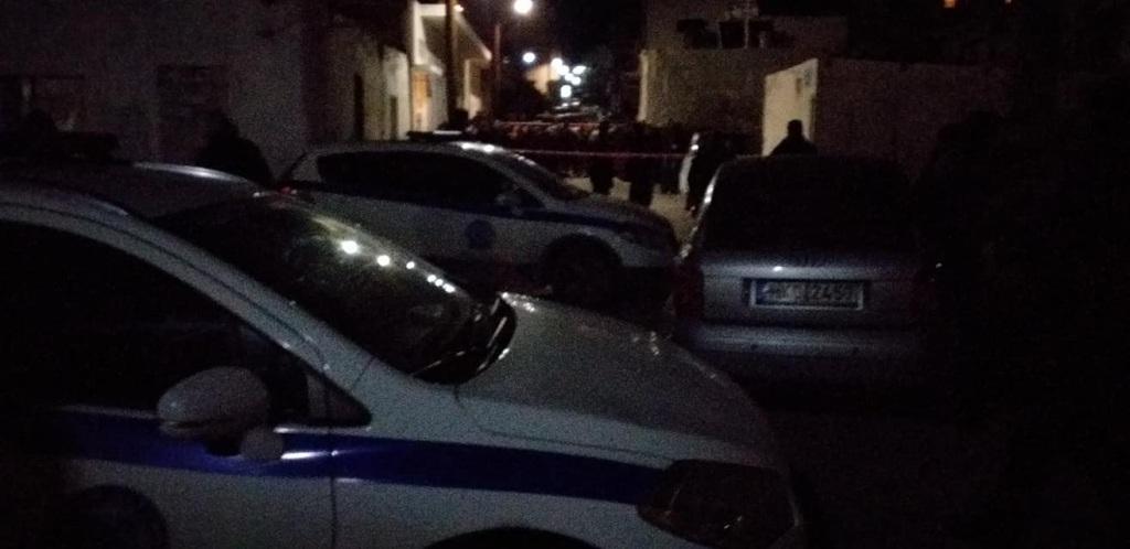 Στο σημείο βρέθηκαν ισχυρές αστυνομικές δυνάμεις.