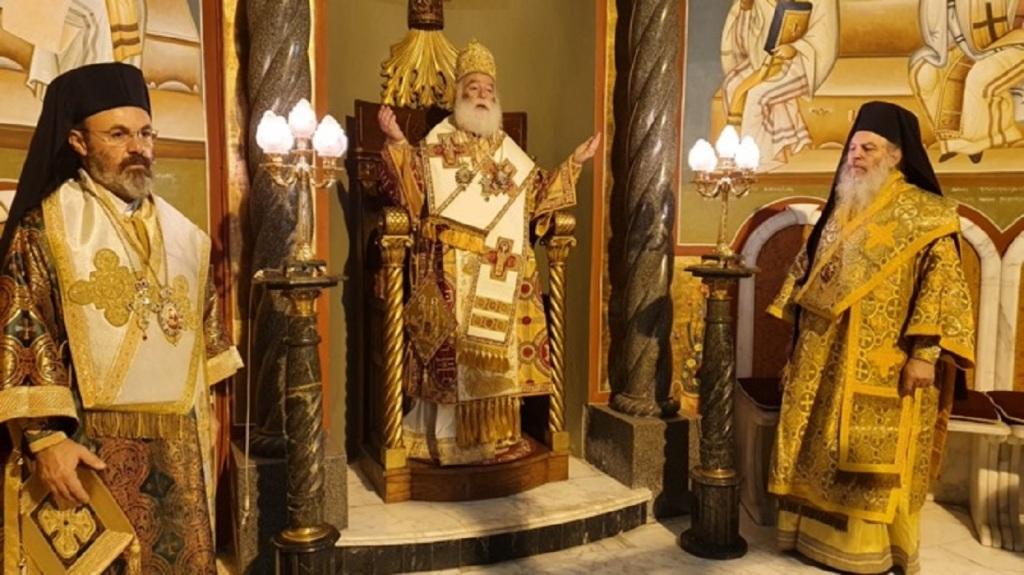 Από την λειτουργία στον Πατριαρχικό Ναό.