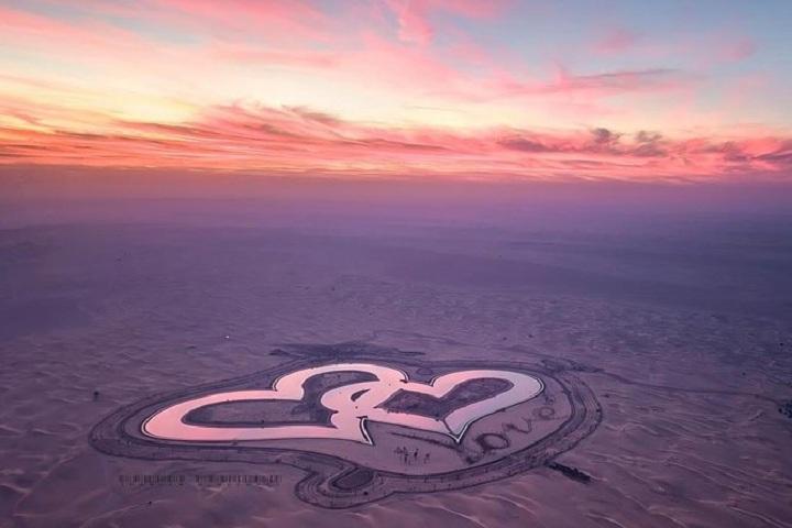 Ντουμπάι λιμνη καρδιά
