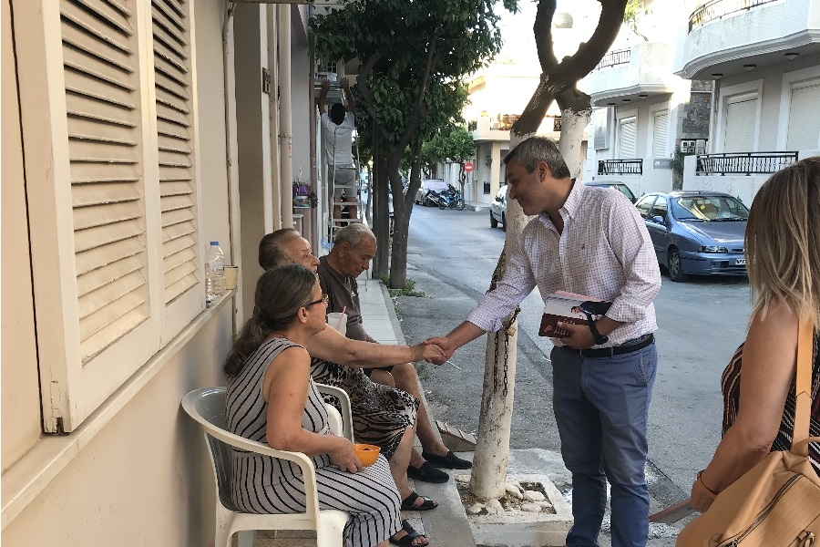 Επικεφαλής της περιοδείας του κλιμακίου του κόμματος, ο βουλευτής Χάρης Μαμουλάκης