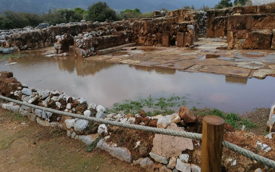 Αυτή την εικόνα παρουσιάζει ο αρχαιολογικός χώρος στα Μάλια.