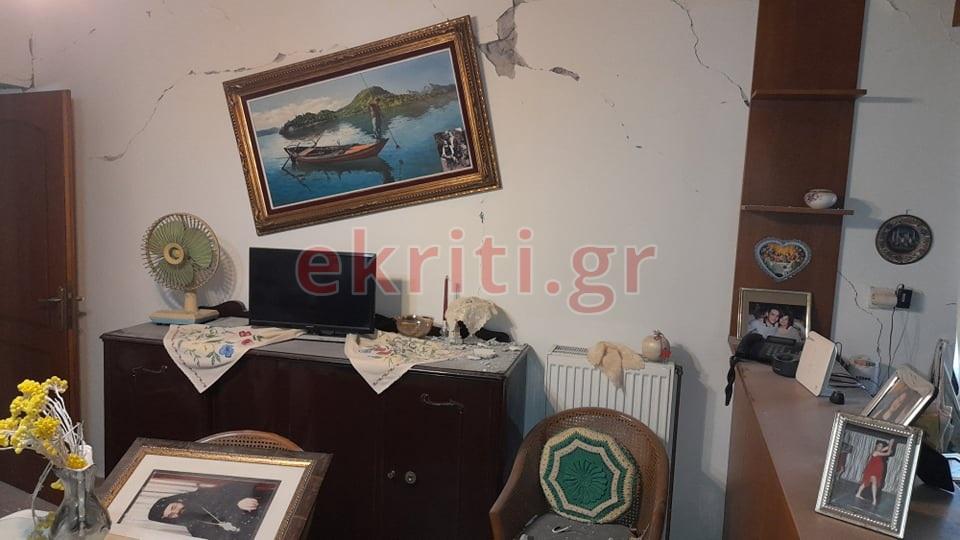 Ζημιές σε σπίτι στο Αρκαλοχώρι