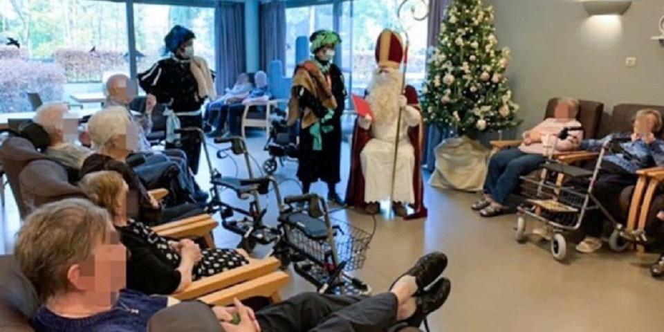Ο εθελοντής Αη Βασίλης στο γηροκομείο του Βελγίου