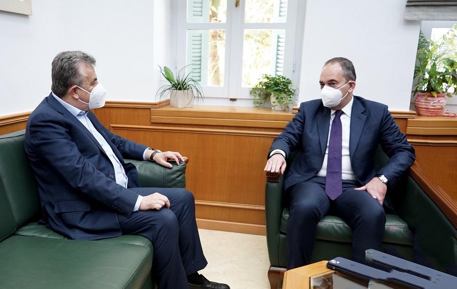 Από τη συνάντηση του κ. Πλακιωτάκη με τον περιφερειάρχη Κρήτης