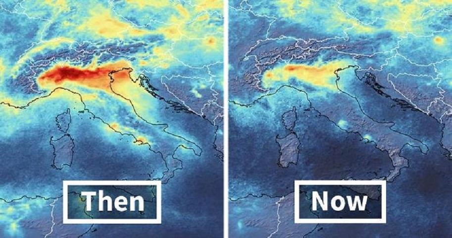 «Η μείωση στις εκπομπές διοξειδίου του αζώτου πάνω από το Βόρειο τμήμα της Ιταλίας είναι εξαιρετικά ορατές»