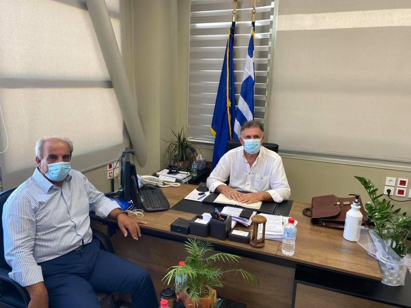 Συνάντηση εργασίας του Δημάρχου Μανώλη Φραγκάκη με τον Περιφερειακό Συντονιστή Πολιτικής Προστασίας κ. Μανώλη Παραβολιδάκη,