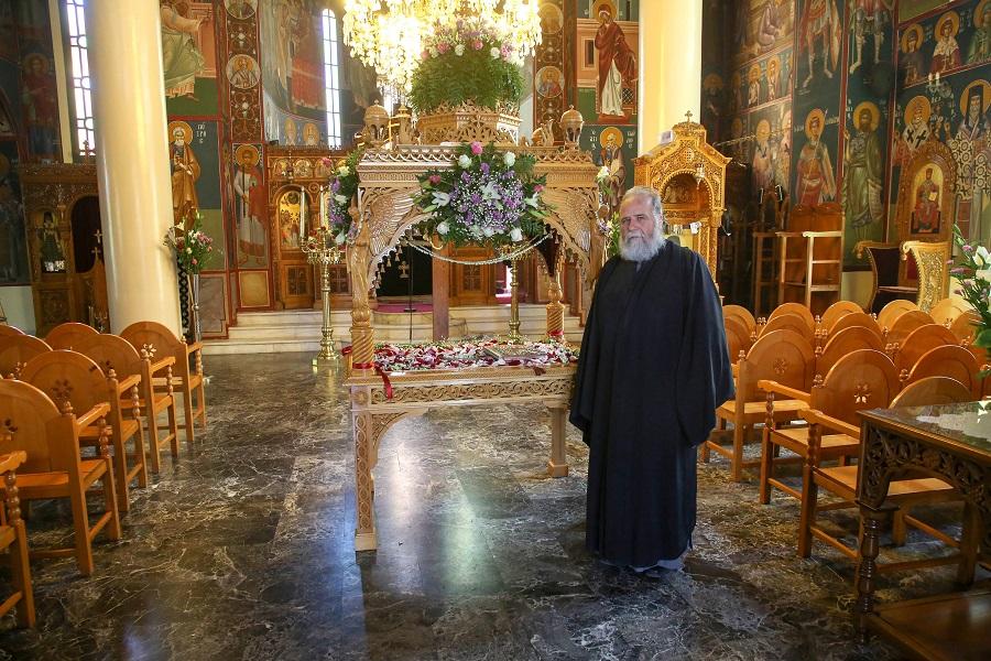 Ο Επιτάφιος στον Ιερό Ναό της Αναλήψεως