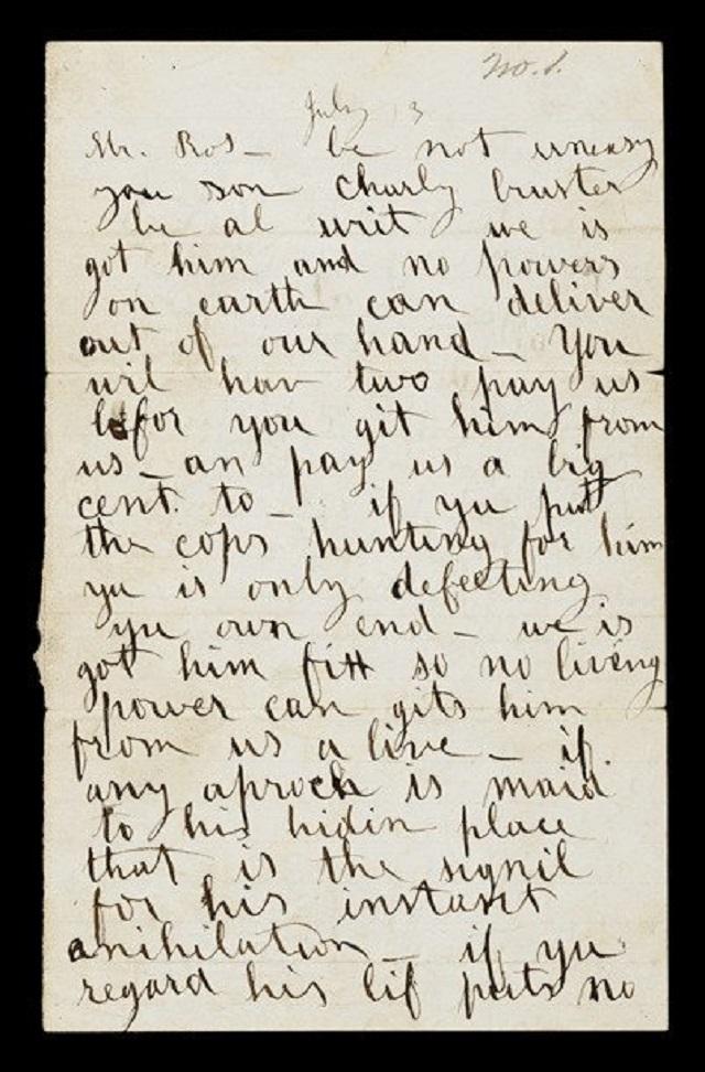 Το γράμμα που έστειλαν στον πατέρα οι απαγωγείς