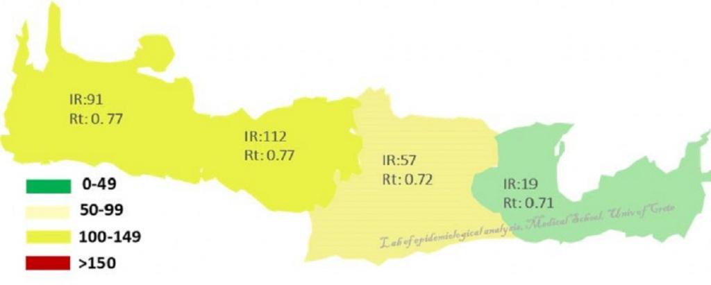 Ο επιδημιολογικός χάρτης της Κρήτης