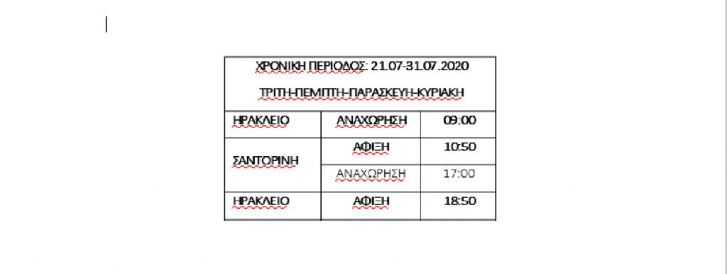 Το πρόγραμμα του Santorini Palace από 21/7 έως 31/7