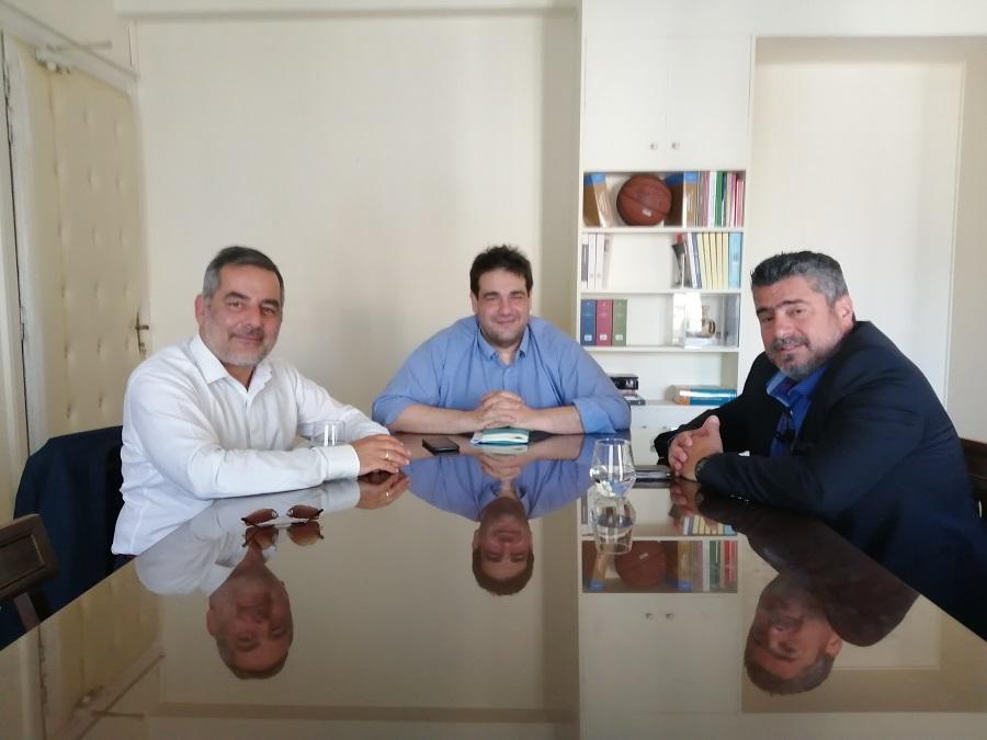 Από την συνάντηση με τον υφυπουργό κ. Λιβάνιο