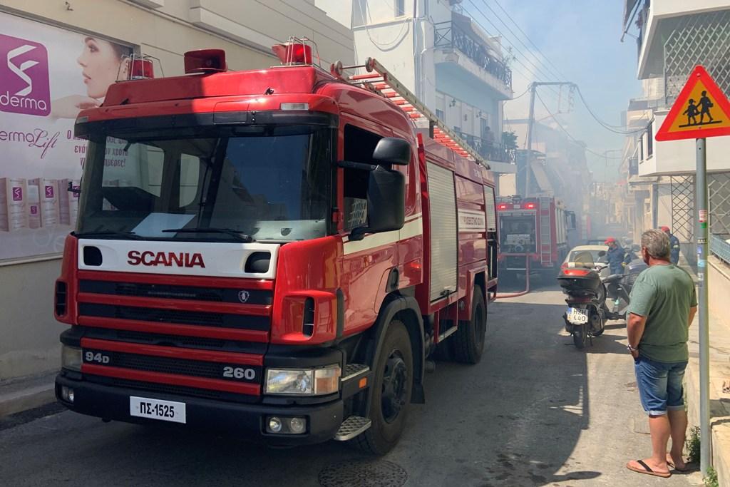 Η κινητοποίηση των πυροσβεστών ήταν άμεση.