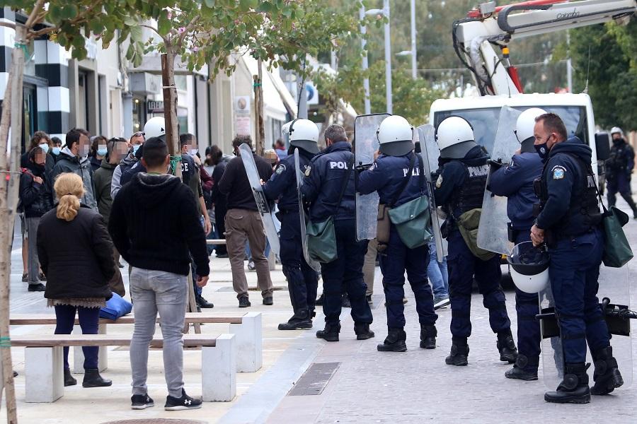 Ισχυρές δυνάμεις της Αστυνομίας στο κέντρο