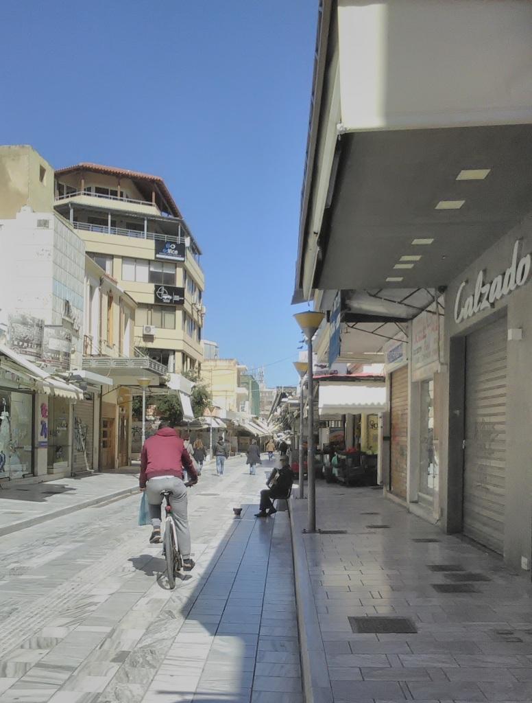 Άποψη της αγοράς του Ηρακλείου.