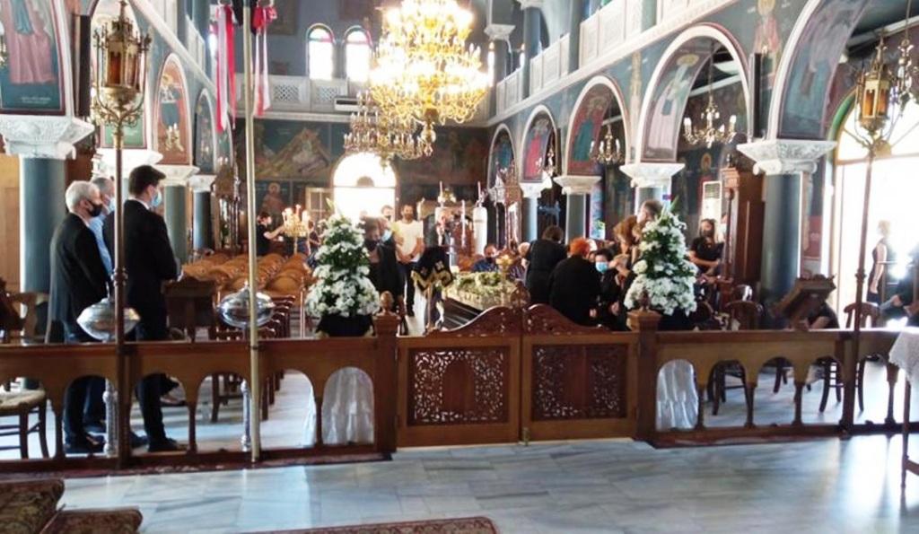 Η εξόδιος ακολουθία τελέστη στη Μητρόπολη Ρεθύμνου ενώ η κηδεία του έγινε στο Αμάρι Ρεθύμνου.