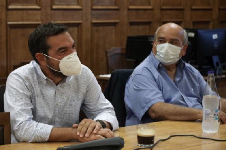 Αλέξης Τσίπρας και Νίκος Βούτσης -Φωτογραφία: EUROKINISSI/ΓΙΑΝΝΗΣ ΠΑΝΑΓΟΠΟΥΛΟΣ