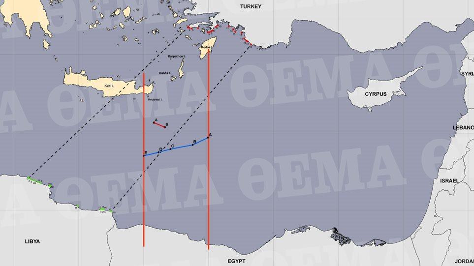Αυτός είναι ο χάρτης της συμφωνίας μεταξύ Ελλάδας και Αιγύπτου