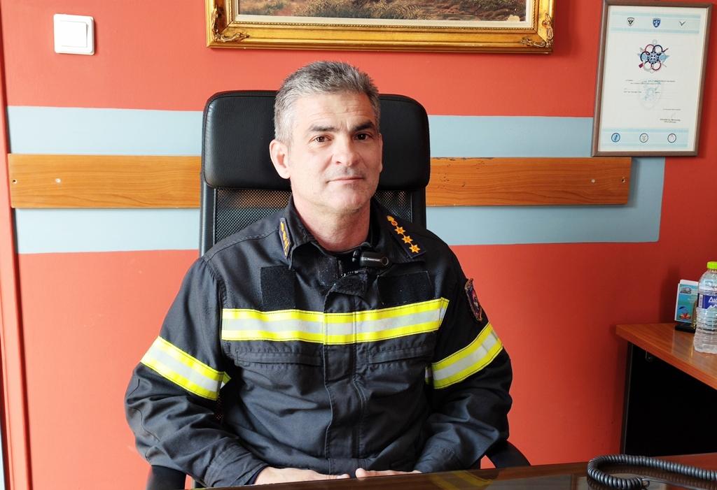 Ο Πύραρχος Νίκος Μητσιογιάννης (φωτογραφία από onlarissa)