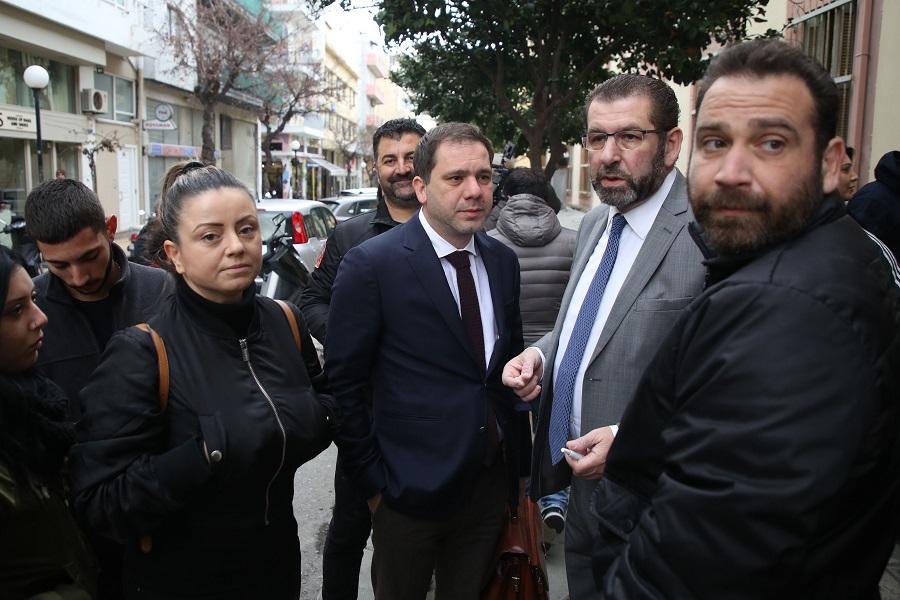 Οι συνήγοροι της οικογένειας του θύματος, Φραγκίσκος Λαμπρινός και Γιάννης Στειακάκης